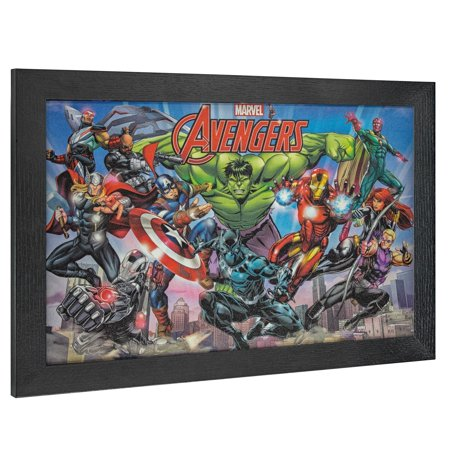 American Art Decor Licensed Marvel Comics Avengers Comic Book Decor - Multi-color (Avengers Decor)
