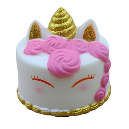 Kawaii Cartoon Cake Squishies Slow Rising Cream Scented Stress Reliever Toys