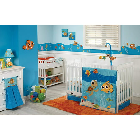 Disney Finding Nemo 4 Piece Crib Bedding Set,