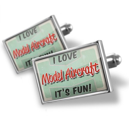 Cufflinks I Love Model Aircraft  Vintage Design   Neonblond