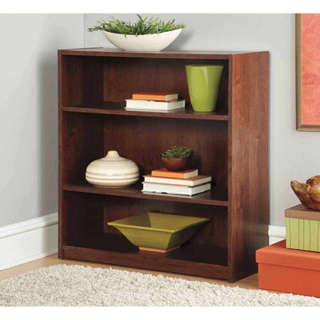 - Mainstays 3-Shelf Wood Bookcase, Multiple Colors - Walmart.com