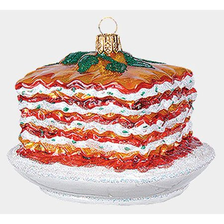 - Ricotta Cheese Lasagna Polish Glass Christmas Ornament Italian Food Decoration
