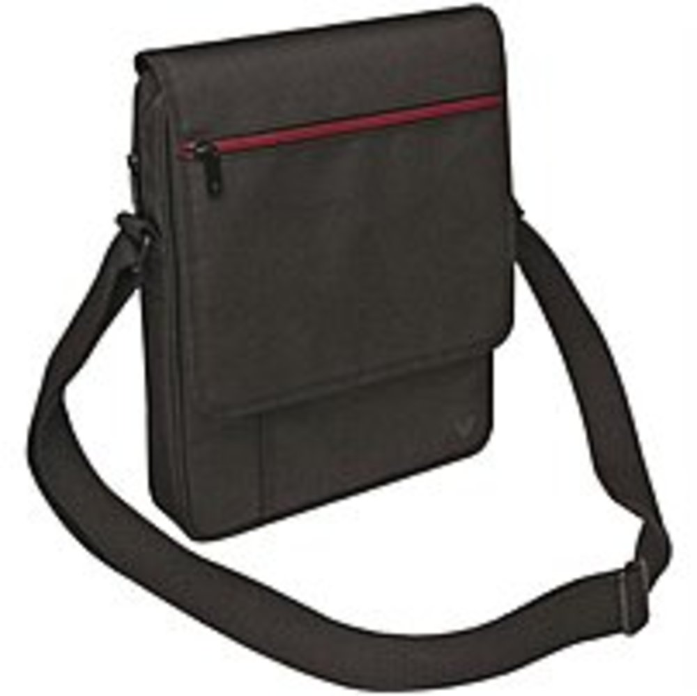V7 Mobility Accessories TD21BLK-1N Premium Messenger Bag Fr Tablet 10.1In Ipad 1 2 3 4 Ipad Air-Blk