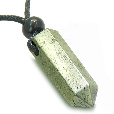 Amulet Golden Pyrite Iron Crystal Point Protection Magic Powers Wand Pendant - Pyrite Nugget
