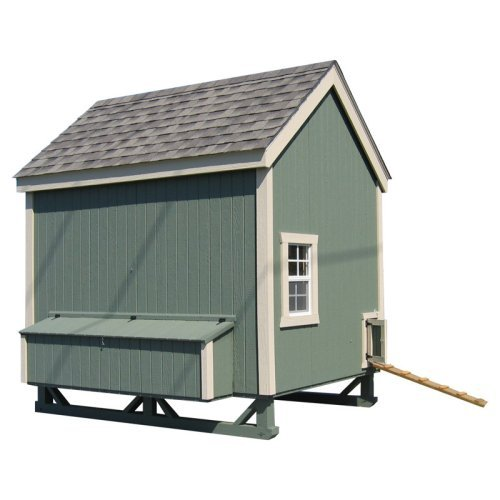 Little Cottage Unpainted Colonial Gable Chicken Coop - Large