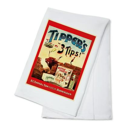 Tipper's 3 Tips! Vintage Poster (artist:  ) United Kingdom c. 1897 (100% Cotton Kitchen Towel)
