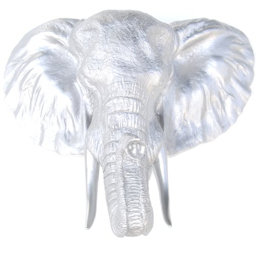 Near and Deer Faux Taxidermy Resin Elephant Head Wall D cor