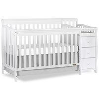 Dream On Me 5-in-1 Brody Convertible Crib and Changer, White