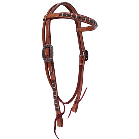 Horse Tack Browband Studded Headstall w/ Tie Ends 78RT03