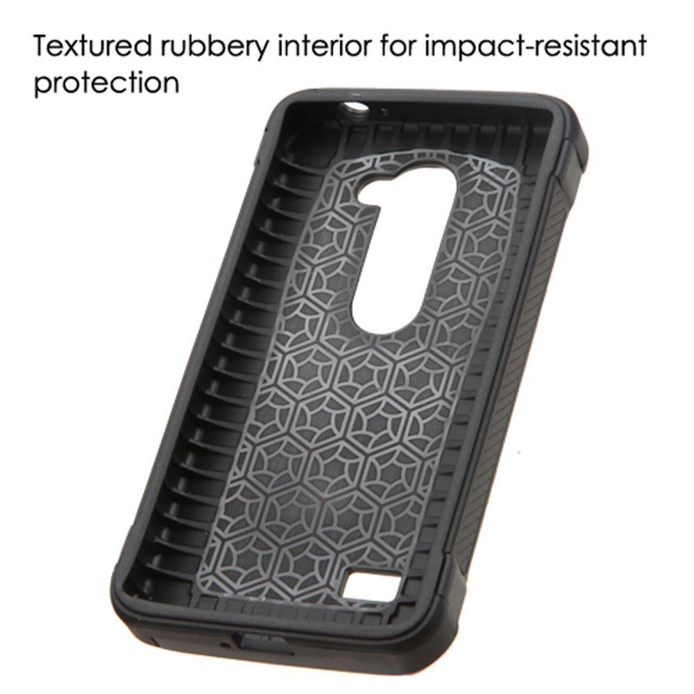 LG Leon Phone Case, LG Leon Case, by Insten Diagonal Plaid Hard Dual Layer Hybrid Case For LG Leon/Risio/Tribute 2 case cover - image 2 de 3