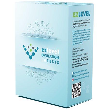 EZ Level 30 Ovulation Test Strips LH Surge OPK Predictor Kit (30