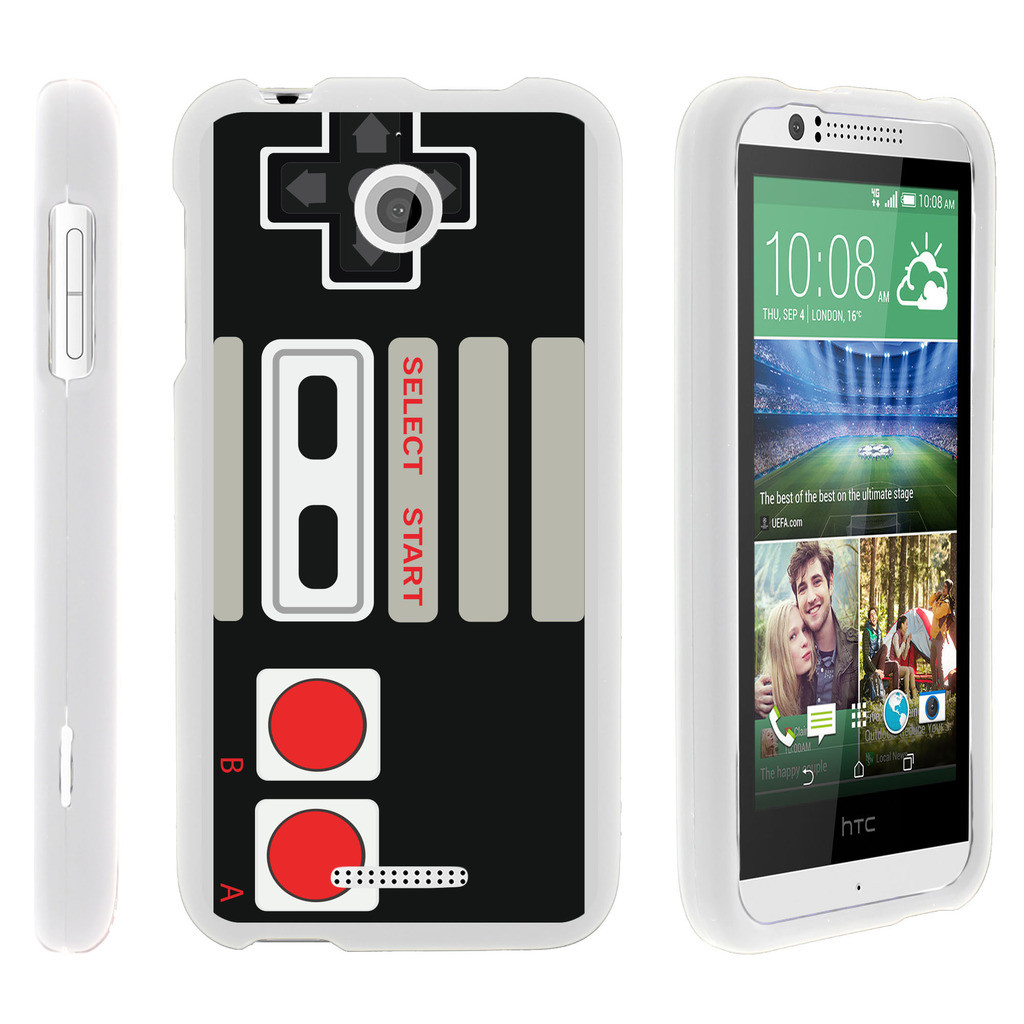 HTC Desire 510, [SNAP SHELL][White] Hard White Plastic Case with Non Slip Matte Coating with Custom Designs - Game Controller