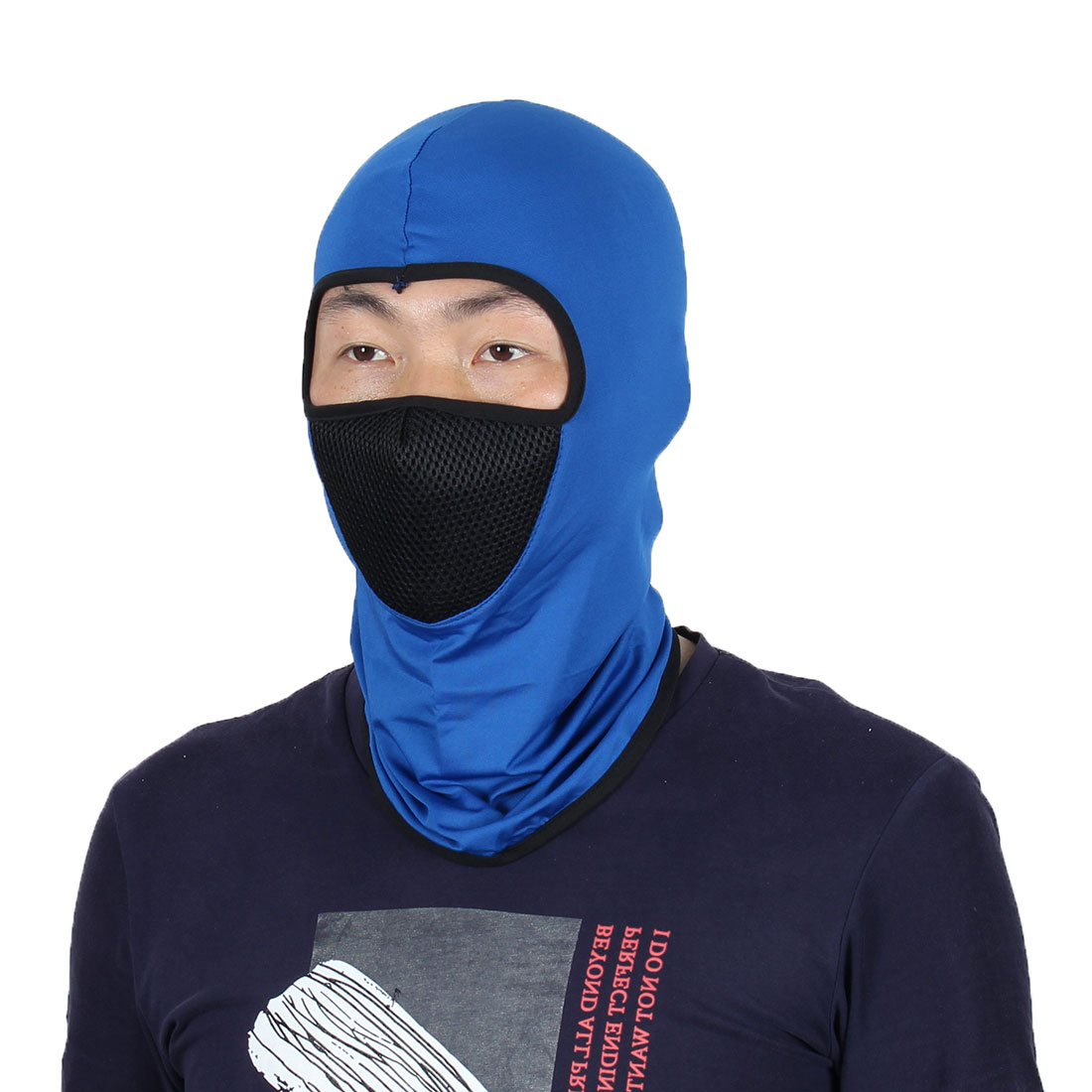 Full Face Mask Outdoor Cycling Neck Protector Hat Helmet Balaclava Dark Blue by Unique-Bargains