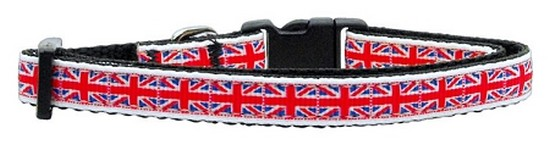 Tiled Union Jack(UK Flag) Nylon Ribbon Collar Small + Entrenamiento y comportamiento del perro en VeoyCompro.net
