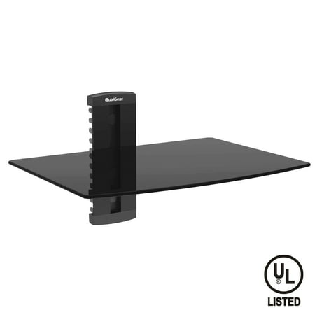 QualGear Universal Single-Shelf Wall Mount for Most A/V Components, Black