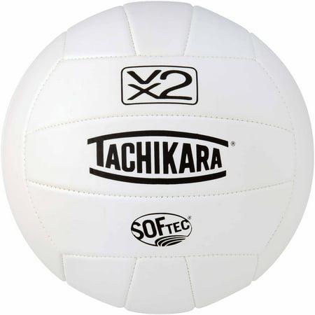 Tachikara SofTec VX2 Volleyball, White - I Love Volleyball