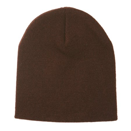 Yupoong Men's Heavyweight 8.5 inch Long Knit Beanie, Style 1500C