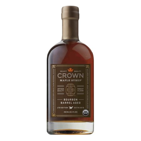 Crown Maple Bourbon Barrel Aged Maple Syrup, 8.5 Oz