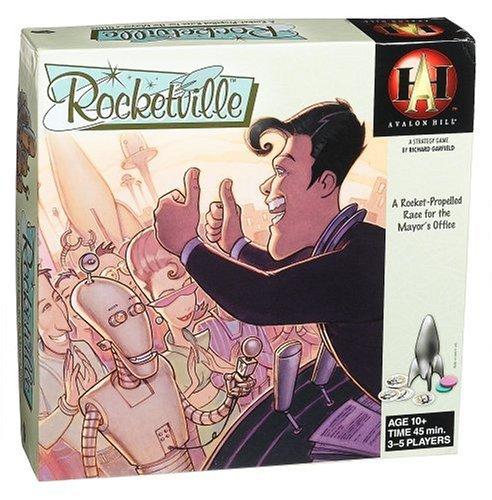 - Rocketville, Political,strategy games,science fiction,board games. By Avalon Hill by
