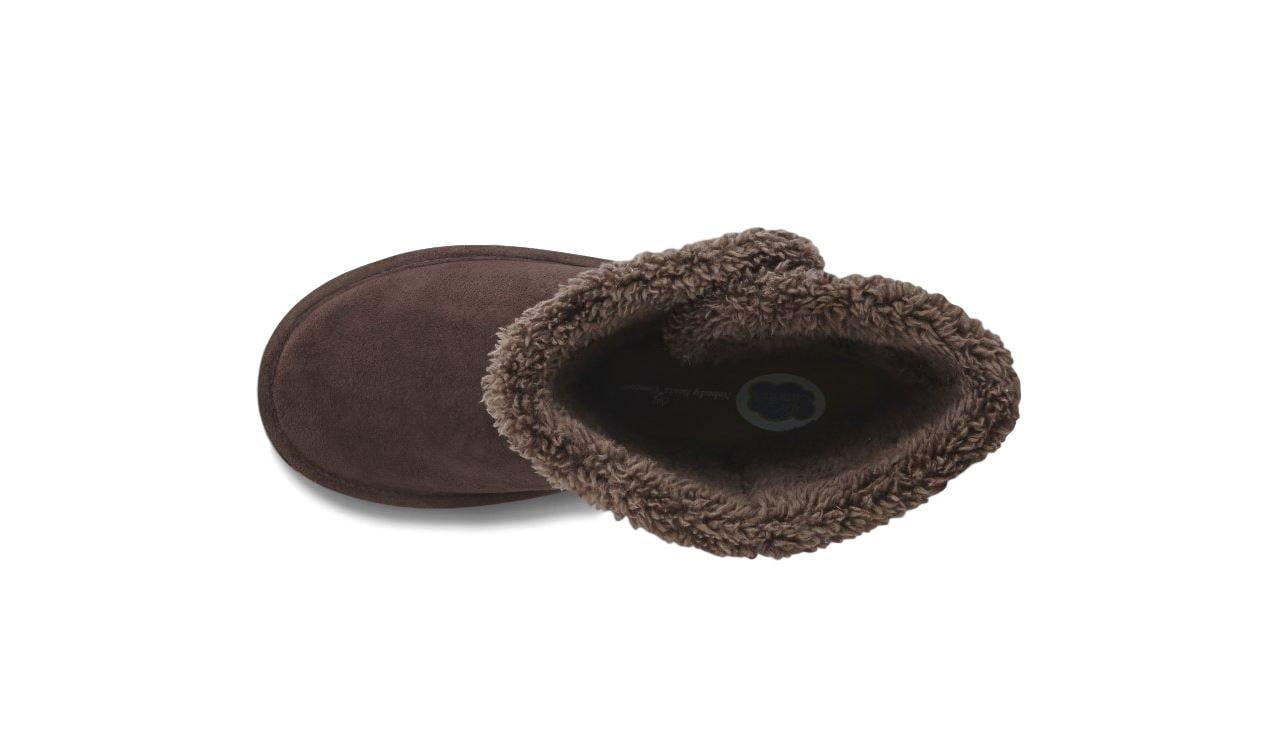 Dr. Comfort Tonya Women's Slipper Boot Chocolate