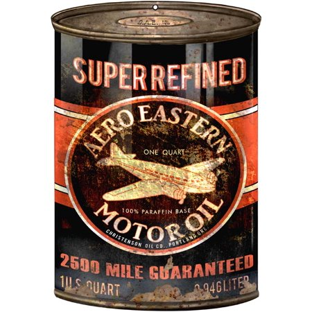 - Reproduction Aero Eastern Motor Oil Can Cutout 7  1/4