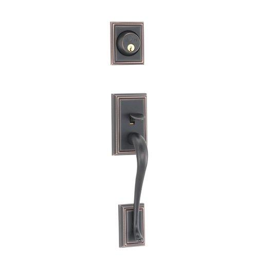 Schlage F92 Add Dummy Set Addison Handleset Aged Bronze