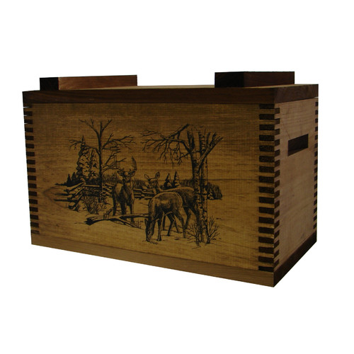 Evans Sports Standard Storage Box With Winter Deer Print