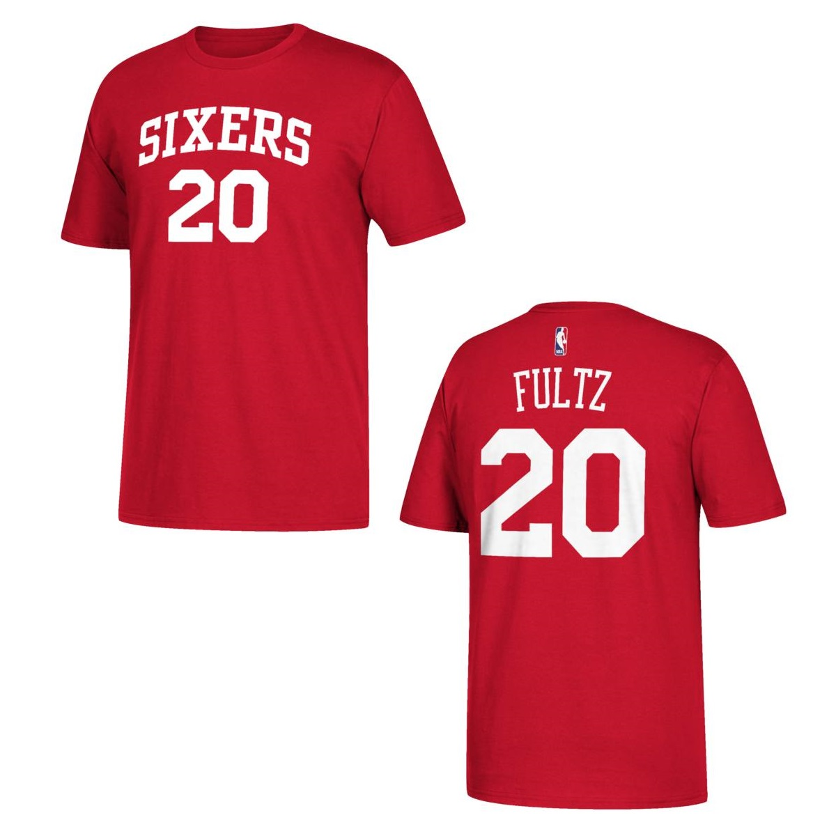 Philadelphia 76ers Markelle Fultz Red Name and Number T-Shirt