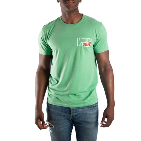 ed21f2e5cb6b6 Men's Vintage Green Mountain Dew Tee with Distressed Front and Back Print