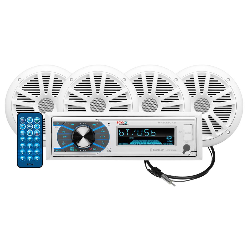 BOSS AUDIO MCK632WB.64 PACKAGE W  MR632UAB 4 MR6W SPEAKERS by Boss Audio