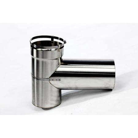 316 Stainless Steel Pipe - M-Flex 2 Part Flex Tee, 316 Stainless Steel Tee