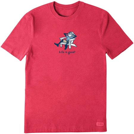 Life Is Good Mens Adirondack Jake Vintage Crusher T-Shirt 16W Short ()
