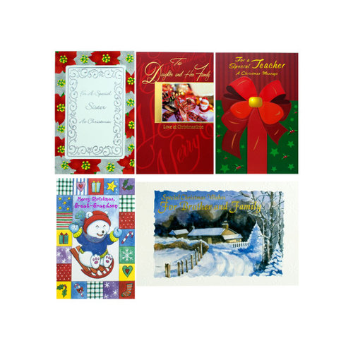 Bulk Buys OP531 Christmas Card Case of 144