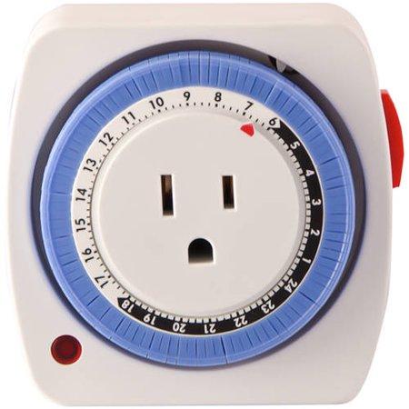 GoGreen Power Mechanical 24-Hour Timer, White, 36011