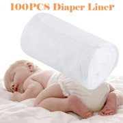 HERCHR 100PCS/Roll Disposable Cloth Baby Nappy Liner Covers Soft Diaper Pad Insert ,Infant Diaper Liner, Disposable Diaper Liner