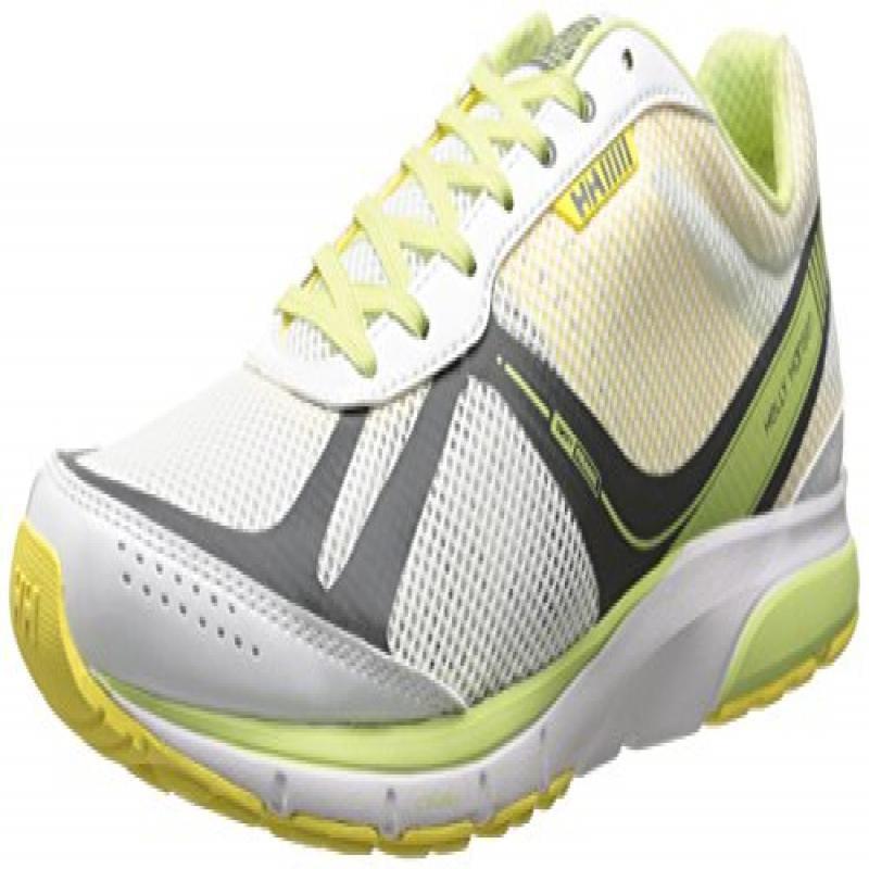 Helly Hansen Women's W Nimble R2 Running Shoe, White/Neon Yellow/Midori, 10 M US