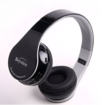 Beyution Hi-Fi Stereo Bluetooth Headphones Best audio Performance Over-ear Bluetooth Headset for Apple Iphone 7 6 5s 5c 5
