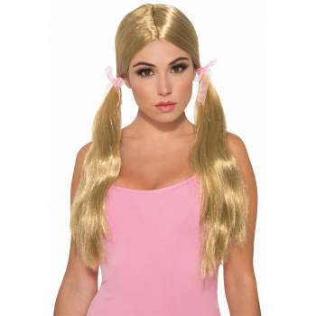 WIG - LONG PIGTAIL - BLONDE (Blonde Pigtail Wig)