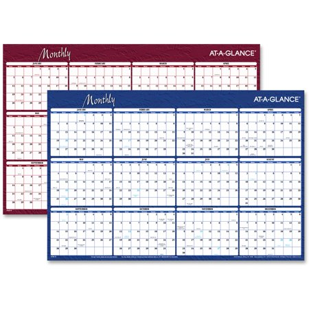 Erasable/Reversible Horizontal Yearly Wall Planner