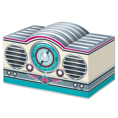 3D Rock & Roll Radio Centerpiece