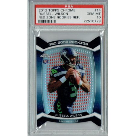 05 Topps Chrome Rookie Card - Russell Wilson 2012 Topps Chrome #14 Red Zone Rookes Rookie Card PSA 10