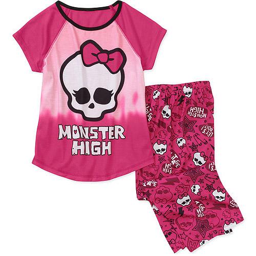 Monster High Girls 2 Piece Pajama Set
