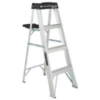 Louisville Ladder 4' Aluminum Step Ladder, 250-lb Capacity, W-2112-04S