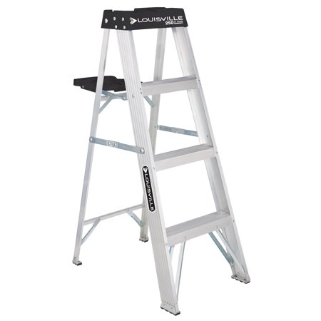 Louisville Ladder 4-Foot Aluminum Stepladder, 250-Pound Capacity, Type I, W-2112-04S
