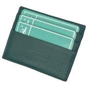 Premium Dark green Soft Genuine Leather Simple Credit Card Holder
