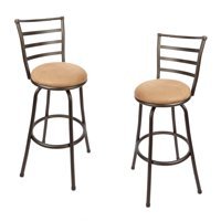 Mainstays Adjustable-Height Barstools, Set of 2, Hammered Bronze