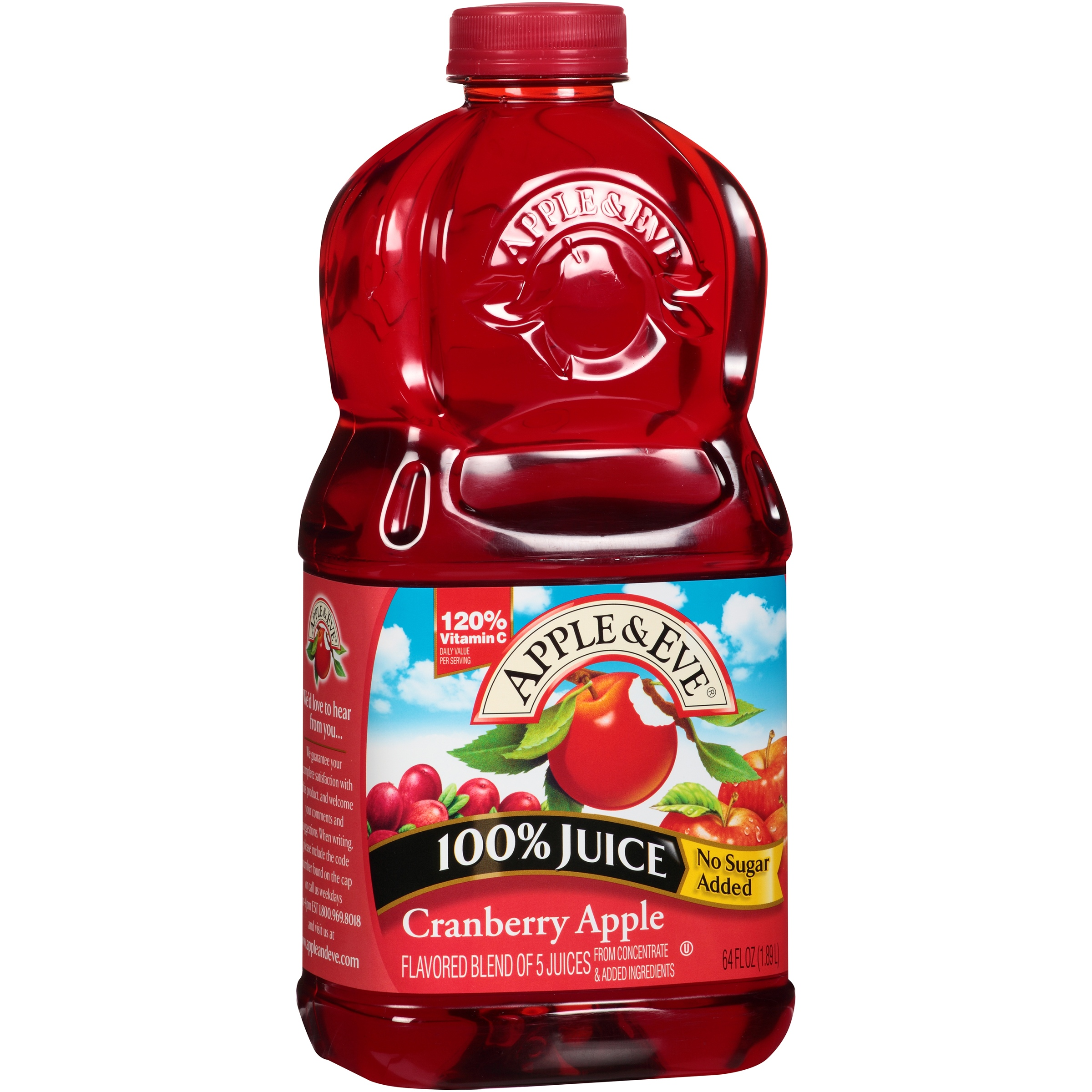 Apple & Eve Cranberry Apple 100% Juice 64 fl. oz. Bottle by Apple & Eve