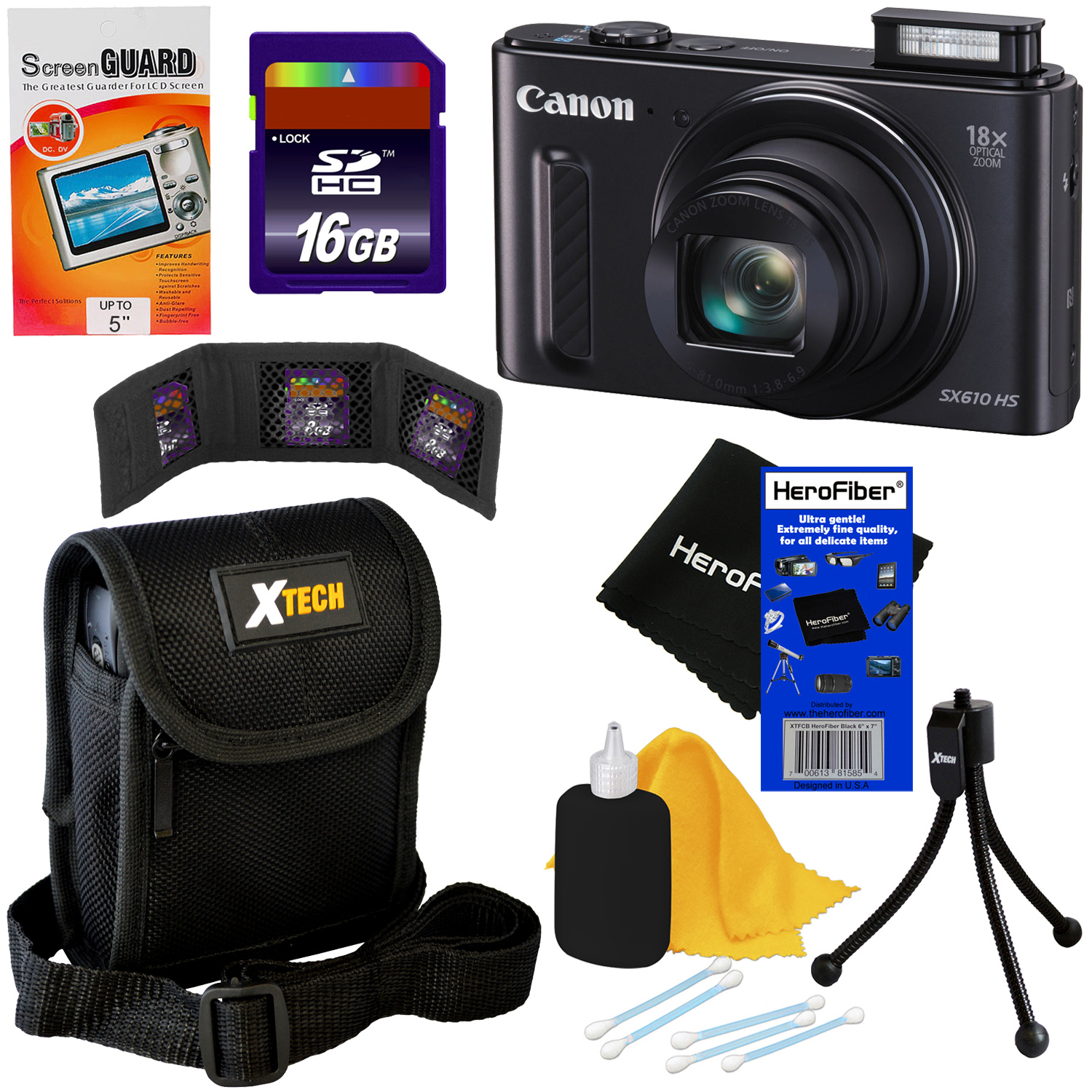 Canon PowerShot SX610 HS 20.2 MP Wi-Fi Digital Camera wit...