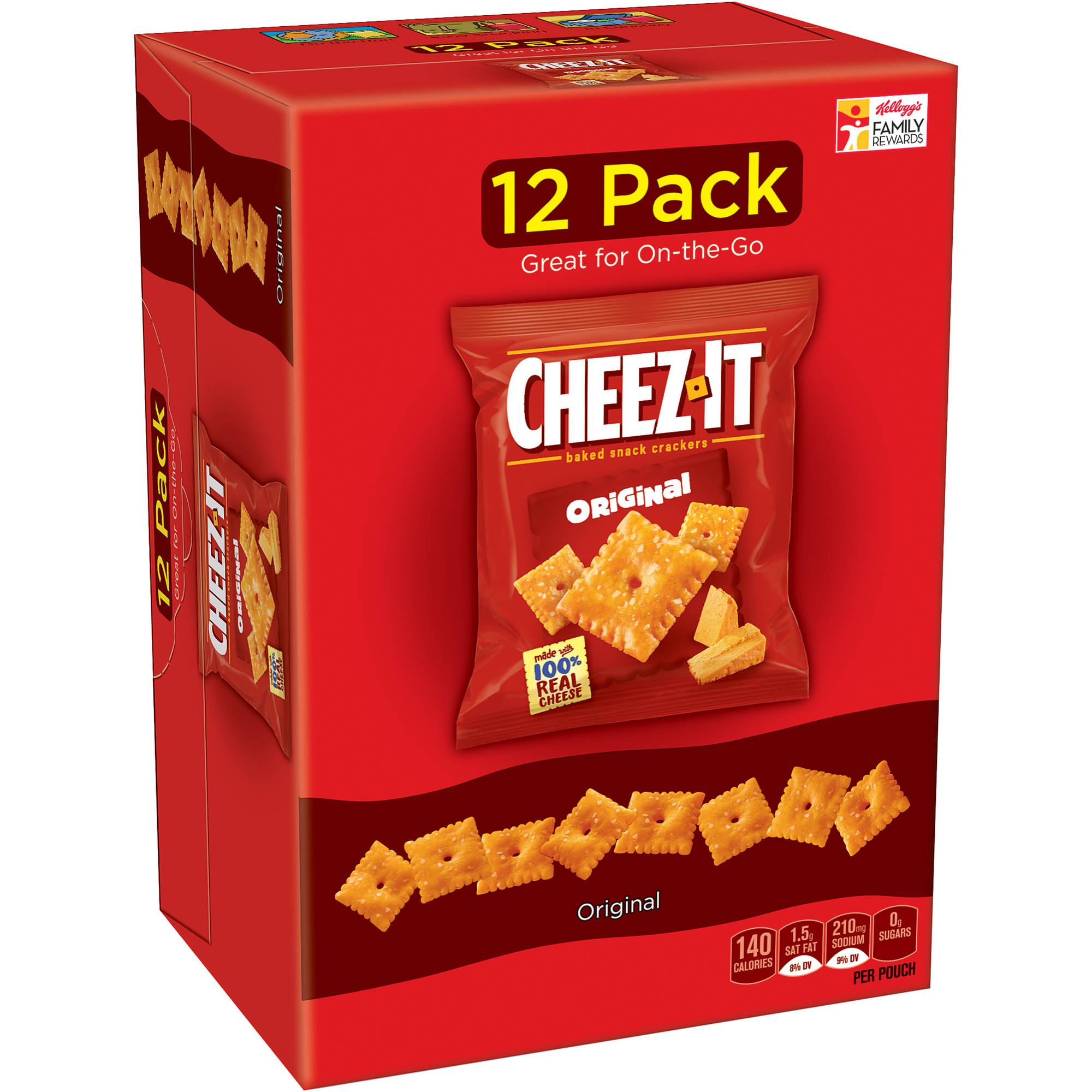 Cheez-It Original Baked Snack Crackers, 1 oz, 12 count