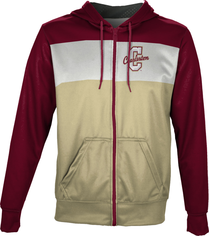 YUSKYMen YUSKY Men Zip-Front Hooded Printing Athletic Tops Outwear